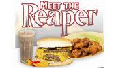 The Reaper Burger Challenge at Geraldine's Central Cafe (Central Cafe / Facebook).