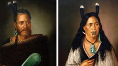 The two Lindauer paintings stolen from a Parnell art gallery (NZH).