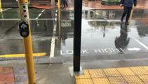 Pole in pedestrian crossing a 'screw up'