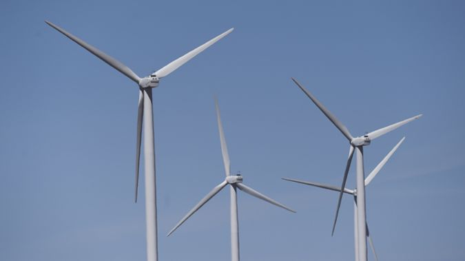 Part of the Green Party's energy policy is to go to completely renewable energy sources, such as wind power, by 2030. Photo/File