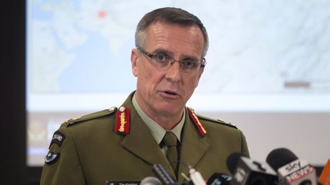 Defence Force Chief, Lieutenant General Tim Keating, during a press conference in Wellington on the allegations made in the book Hit & Run. (Mark Mitchell)