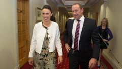 Labour Party deputy leader Jacinda Ardern and leader Andrew Little will work with at least 50 per cent of MPs who are women. Photo / Mark Mitchell
