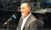 NZME CEO Michael Boggs in studio talking with Leighton Smith