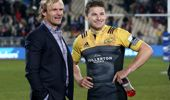 Beauden Barrett of the Hurricanes and Scott Robertson head coach of the Crusaders. (Photosport)
