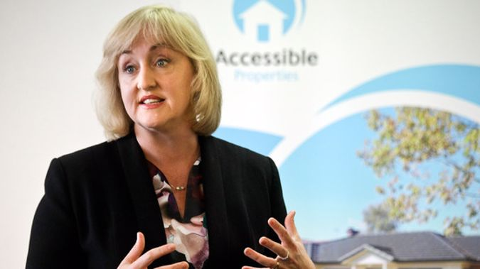 Social Housing Minister Amy Adams announced the new houses today. Photo / File