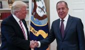 US President Donald Trump shakes hands with Russian Foreign Minister Sergei Lavrov (Photo / AP)