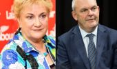 Steven Joyce and Annette King chat with Mike Hosking (Photo / Supplied)