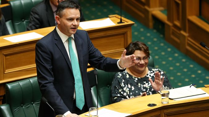 Green Party co-leaders James Shaw and Metiria Turei. (Getty Images)