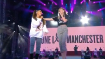 WATCH: Ariana Grande, Miley Cyrus sing Kiwi song at Manchester benefit show