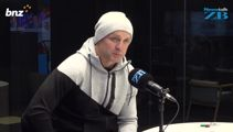 All Black legend Christian Cullen in studio with Mike Hosking