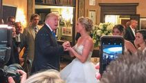 WATCH: Donald Trump crashes wedding at New Jersey golf course