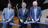 Prime minister Bill English and Simon Bridges MP and Steven Joyce MP open the Waterview connection tunnel. (Michael Craig)
