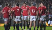 Lions players group together. (Photosport)