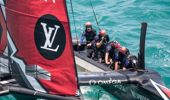 The kiwi America's cup team said there are a range of innovations on the boat but the pedals catch most people's eyes first. (Photo \ NZ Herald)