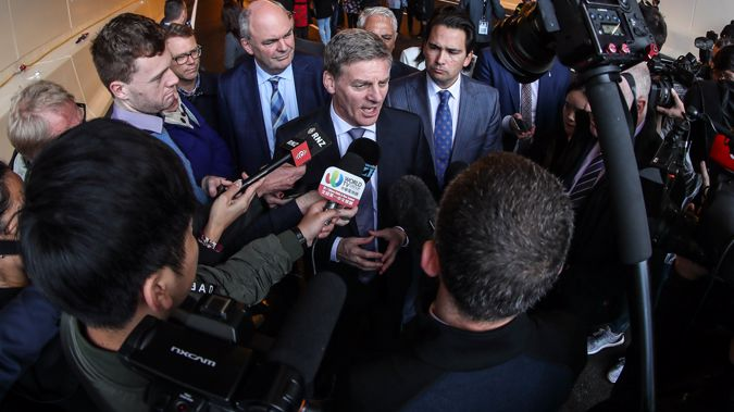 Prime Minister Bill English speaks to the media (Getty Images)