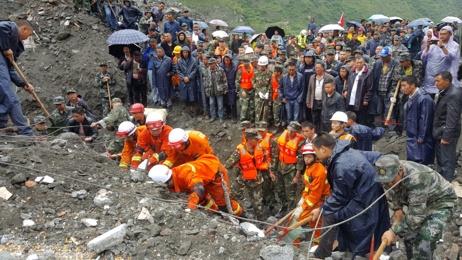 Scores feared dead in China landslide