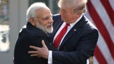 India's PM Modi meets Trump with bear hugs