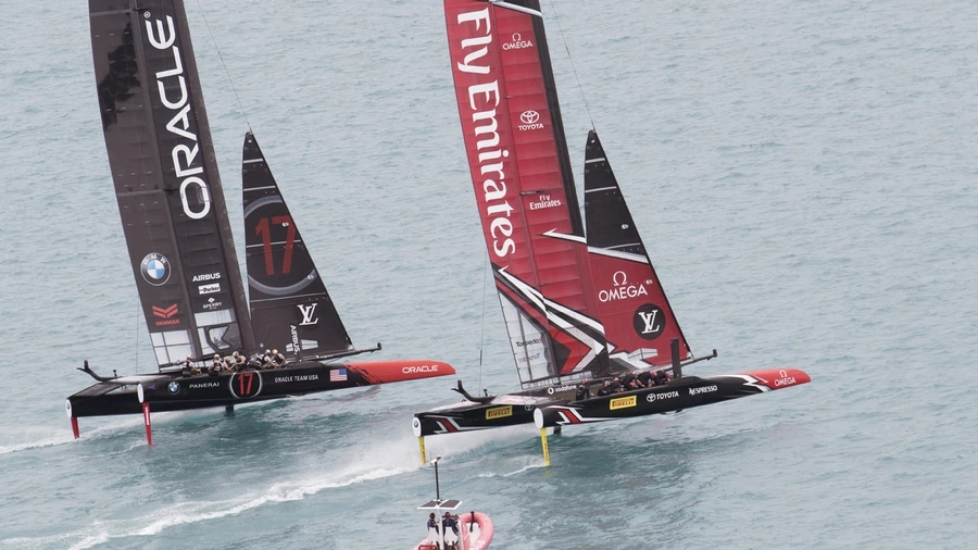 Sport is a big one, I agree with that. And I love the way the nation sits up when the All Blacks play, or when Team New Zealand is foiling its way to victory in Bermuda. (Photo \ NZ Herald)
