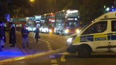 London police at the scene. (NZ Herald/Twitter)