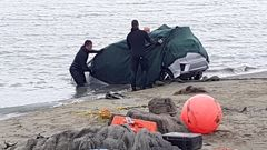 Police recover Bruce Imrie's vehicle after it plunged into the sea near Shag Rock in March, killing his wife Maureen (Andrew King).