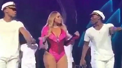 WATCH: Mariah Carey's lacklustre dancing sets social media alight