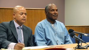OJ Simpson will be released on parole in October after serving 9 years behind bars for Nevada armed robbery. Photo / Getty Images
