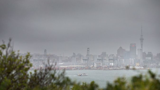 Auckland CBD covered with rain (Nick Reed / NZH)