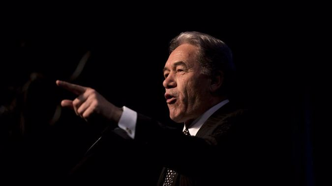 Winston Peters at his conference where he announced his latest bottom lines, a referendum to abolish the Maori seats and to cut the size of Parliament. (Photo/ Dean Purcell)