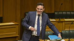 Clutha-Southland MP Todd Barclay arriving in the debating chamber for Question Time today (Mark Mitchell).