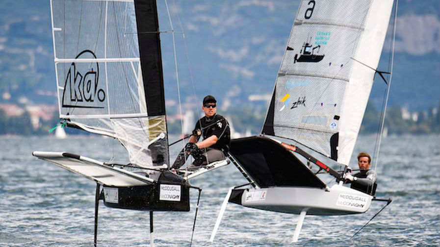 Team NZ skipper Peter Burling in action at the Moth world champs. Photo / Martina Orsini