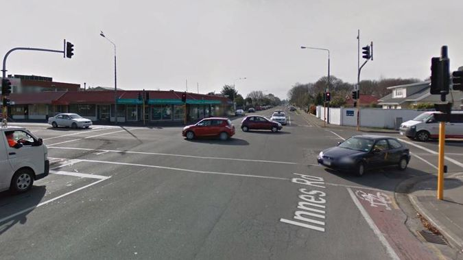 The crash happened on the corner of Innes Rd and Cranford St. Photo / Google Maps