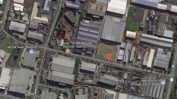 Firefighters are at a blaze in Neales Rd. Photo / Google Maps