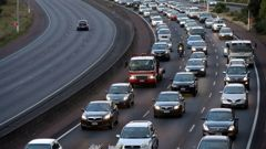 Evening traffic crawls along Auckland's Northwestern Motorway, 2014, (Photo \ File)