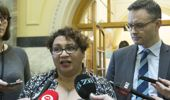 Greens co-leaders Metiria Turei and James Shaw. New Zealand Herald photograph by Mark Mitchell