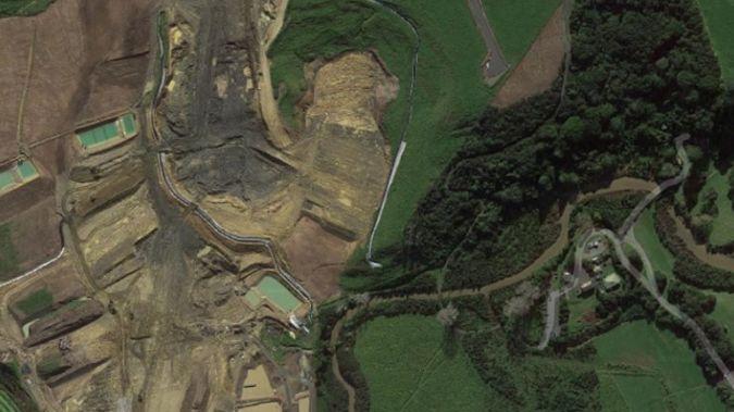 Aerial imagery shows the development behind Long Bay Beach. (via Google)