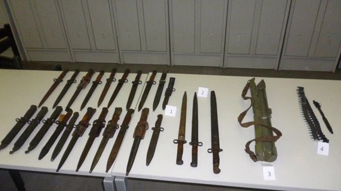 The bayonets and ammunition. (Supplied)