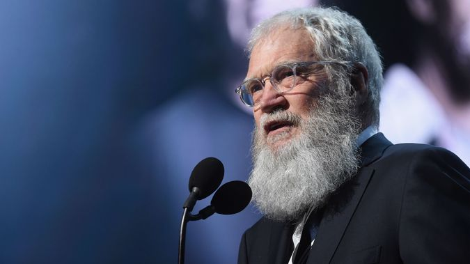 David Letterman speaks onstage at the 32nd Annual Rock & Roll Hall Of Fame Induction Ceremony at Barclays Center on April 7, 2017 in New York City. Getty Images.