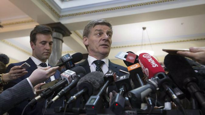 Bill English is clearly rattled over the Todd Barclay texts. Photo / New Zealand Herald