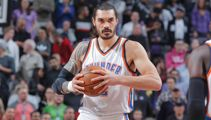 Steven Adams looks to have shaved his beloved moustache