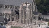 The partially collapsed Christ Church Cathedral on the evening of the February 22, 6.3-magnitude, Christchurch earthquake. (Photo / Mark Mitchell)