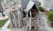 The Christchurch Cathedral looks stuck in time - a reminder of the city's trauma. Photo / NZ Herald