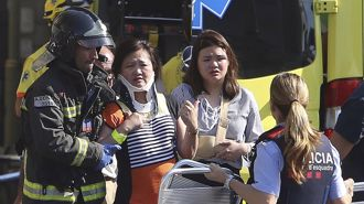 Driver of bus in Barcelona attack remains on the loose