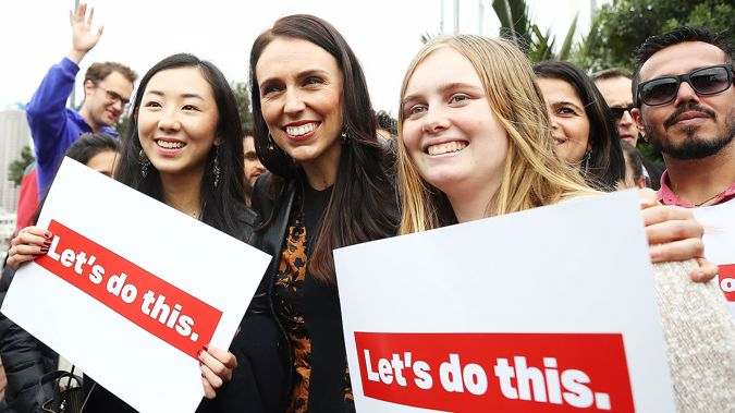 Ardern was asked the other day whether finance was her weak point and she replied with a curt, NO. (Photo \ Getty Images)