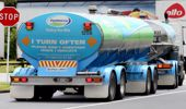 A tanker truck sits outside the Fonterra Brands New Zealand plant (Photo \ Getty Images)