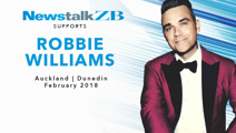 Robbie Williams to descend on NZ in February 2018