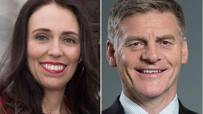 Labour leader Jacinda Ardern and National leader Bill English. (Photo: Getty)