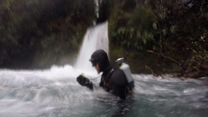 A search member continues day nine of the search for the two missing men. (Photo: NZ Herald/Supplied)