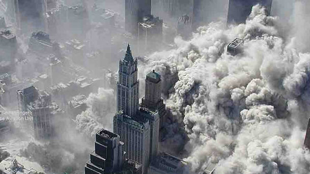 New York City moments after the Trade Towers collapsed. (Photo / NYPD)