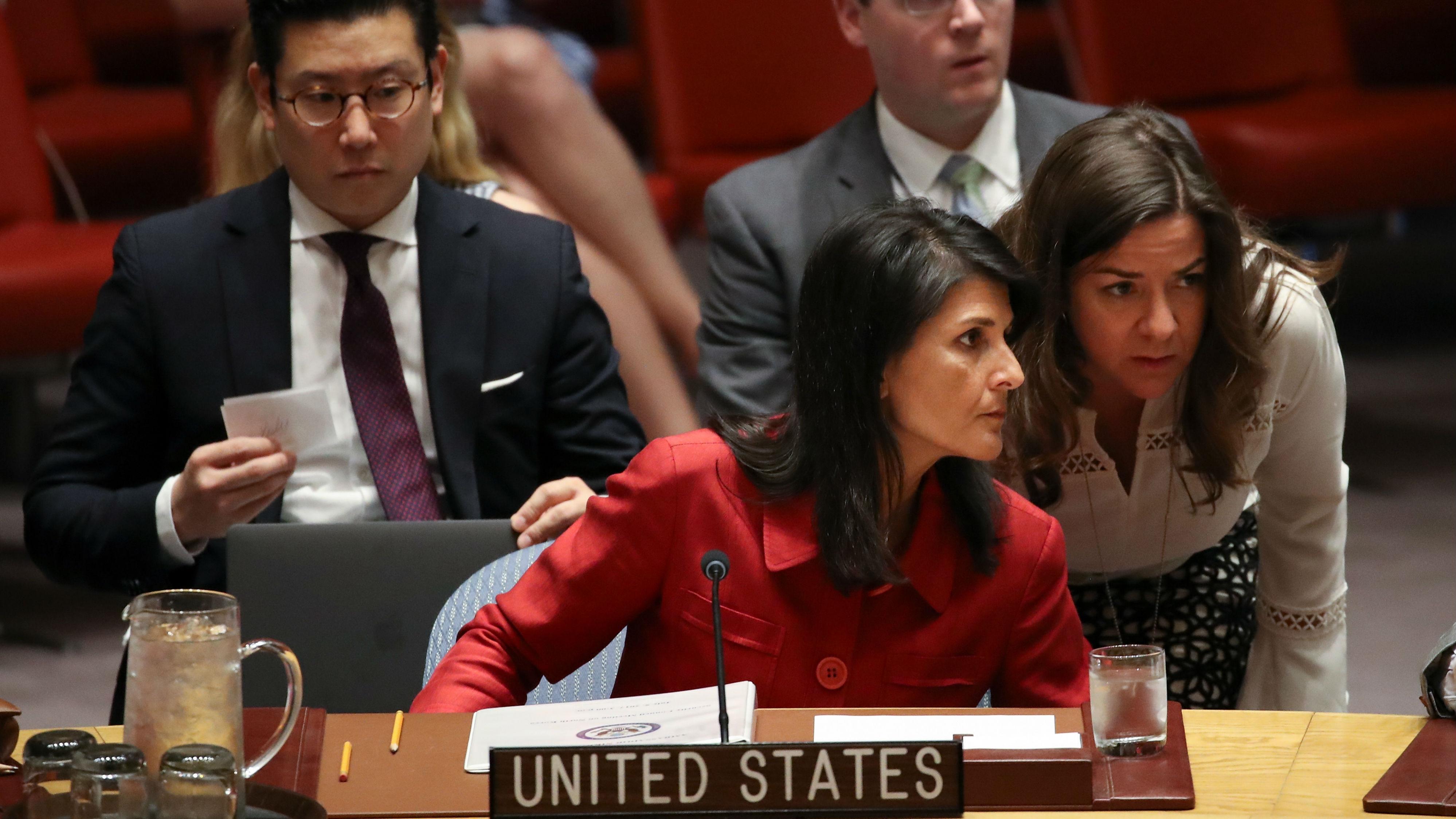 Nikki Hayley, US Ambassador to the UN (Photo: Getty Images)