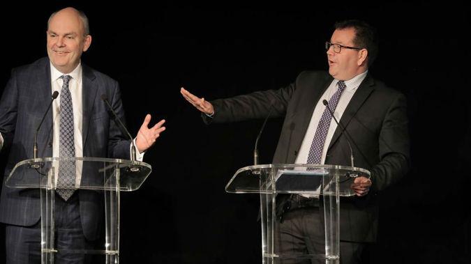 Finance Minister Steven Joyce and Grant Robertson. (Photo \ NZ Herald)